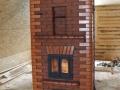 Печь-камин с дверцами