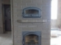 Печь-камин с духовкой