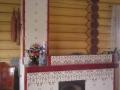 Каминопечь с варочной панелью в изразцах