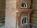 Каминопечь с большой стеклянной дверцей