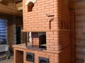 Русская печь с подтопком и варочной панелью