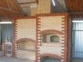 Уличный камин с русской печь