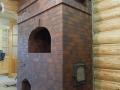 Печь русская покрытая клинкерной плиткой