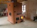 Печь для отопления дома, с духовкой