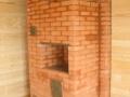 Угловая печь с водяным отоплением