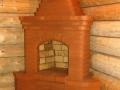Кирпичный камин из фигурного кирпича