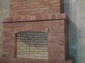 Дачный камин из кирпича ручного формования