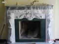 Мраморный камин с гипсовой лепниной