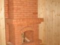 Открытый камин для дома из кирпича