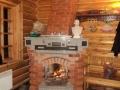 Угловой камин с печью