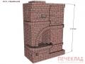 Печь с камином и варочной pkv5_1780x885x2380