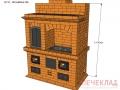 Печь отопительная с варочной с дховкой ov11_1525x885x2100