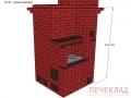 Печь отопительная с варочной с сушкойov12_1140x1140x2030