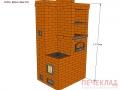 Печь отопительная с варочной ovd5_885x1140x2170