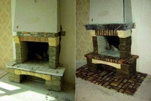 Фото камина до и после ремонта