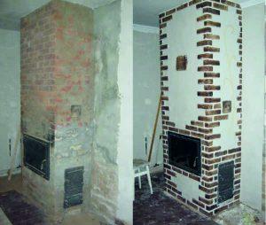 Фото ремонта каминопечи до и после