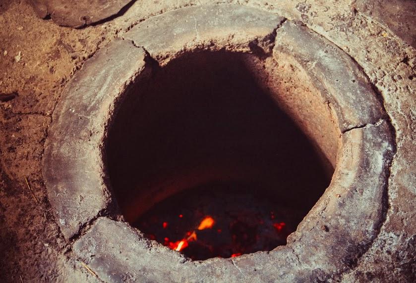 Тандыр в яме