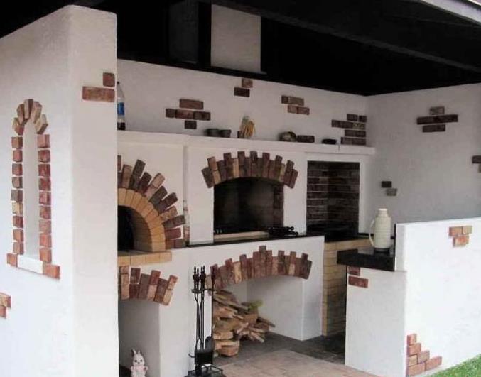 Барбекю печь под штукатуркой