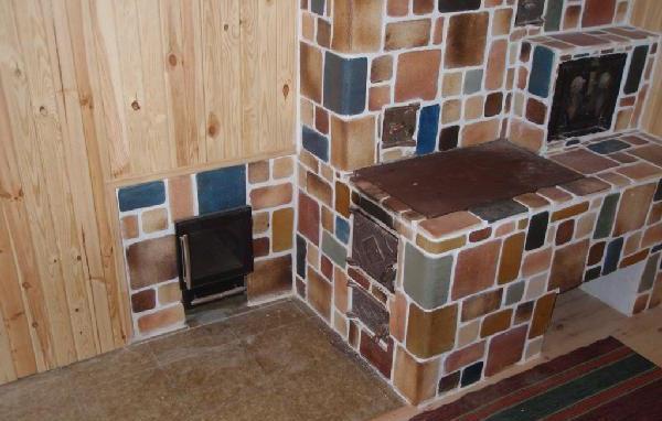 Печь с отделкой плиткой