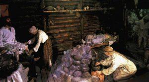 древняя курная печь