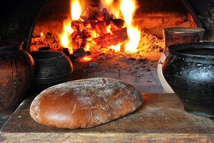 хлеб на русской печи