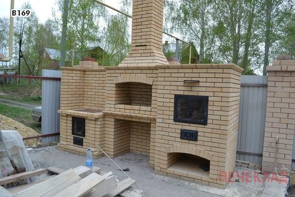 <b>Цена</b>Дачная комплекс из кирпича с мангалом, хлебной печью и устройством плиты под казан