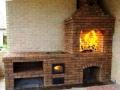 Фотография садовой печи с казаном