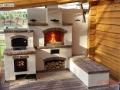 Летняя кухня с облицовкой