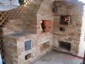 Угловой камин с хлебной печью