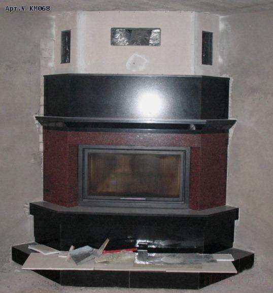 Облицовка заводского камина печь со стальным дымоходом