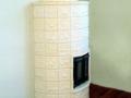 Овальный камин с двухстворчатыми дверцами