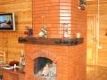 Печь с варочной панелью и камином