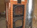Сложная печь камин, с духовкой