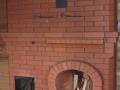 Печь с открытым камином из кирпича