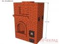 Печь с камином pk3_1525x885x2240