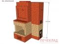 Печь с камином pk4_1395x1015x2240