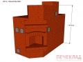 Печь с камином и варочной pkv6_1140x2290x1890