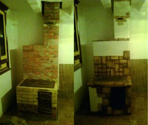 Фото ремонта печи до и после