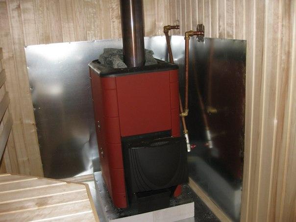 Банная печь с тепловым контуром
