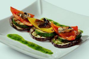 Овощи гриль с розмарином