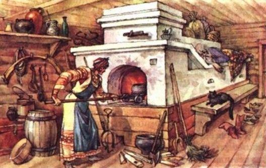 Приготовление в русской печи