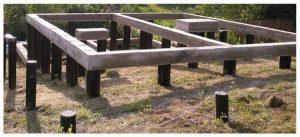 Свайно-бетонный фундамент